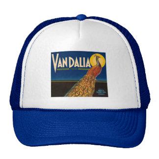 Vintage Peacock Fruit Crate Label Trucker Hat