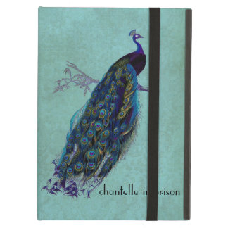 Vintage Peacock Full Feathers on Tattered Lace iPad Covers