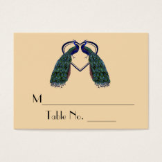 Vintage Peacock Individual Table Number Cards at Zazzle