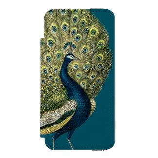 Vintage Peacock iPhone SE/5/5s Wallet Case