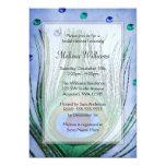 Vintage Peacock Jewels Blue Bridal Shower Invitations