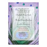 Vintage Peacock Jewels Purple Wedding Personalized Invitation