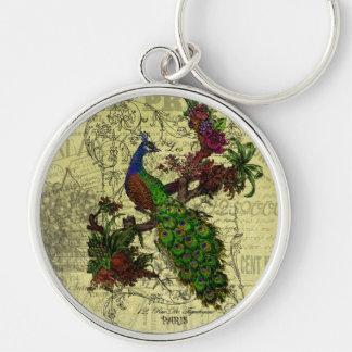 Vintage Peacock Keychain