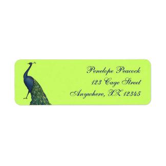 Vintage Peacock Label