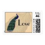 Vintage Peacock Love Postage zazzle_stamp