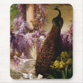 Vintage Peacock Mouse Pads