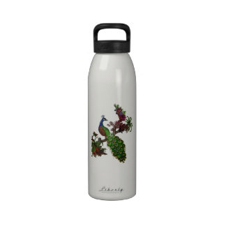 Vintage Peacock on Branch Apparel and Gifts Water Bottle
