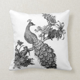 Vintage Peacock on Branch T-shirts and Gifts Pillow