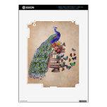 Vintage Peacock on cage iPad 3 Skins