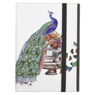 Vintage Peacock on cage iPad Air Cover