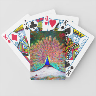 Vintage Peacock Painting Bicycle Playing Cards