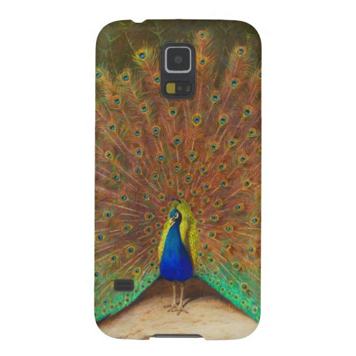 Vintage Peacock Painting Galaxy S5 Cases