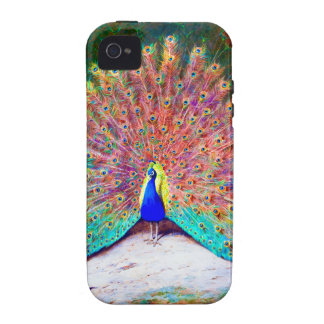 Vintage Peacock Painting iPhone 4/4S Covers