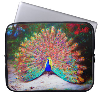 Vintage Peacock Painting Computer Sleeve