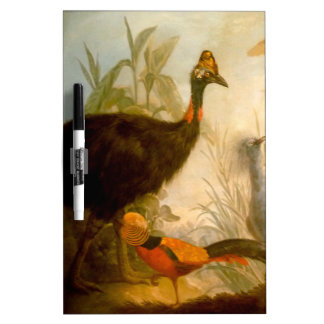 Vintage Peacock Painting Dry-Erase Boards
