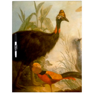 Vintage Peacock Painting Dry-Erase Whiteboards