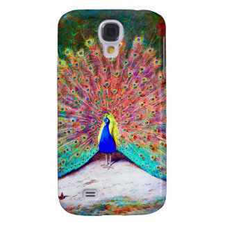 Vintage Peacock Painting Galaxy S4 Case