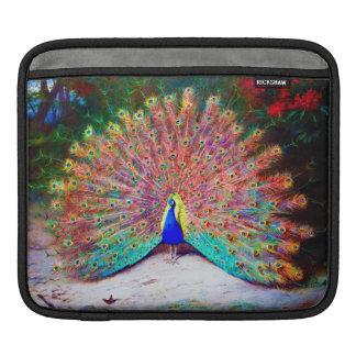 Vintage Peacock Painting iPad Sleeve
