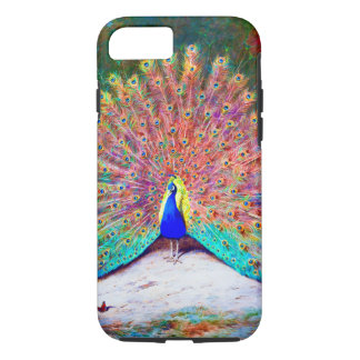 Vintage Peacock Painting iPhone 7 Case