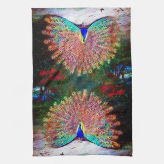 Vintage Peacock Painting Kitchen Towel