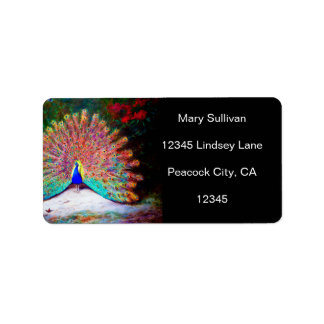 Vintage Peacock Painting Labels
