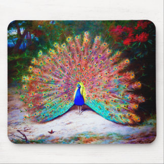 Vintage Peacock Painting Mousepads