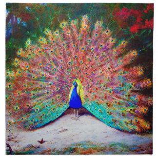 Vintage Peacock Painting Napkin