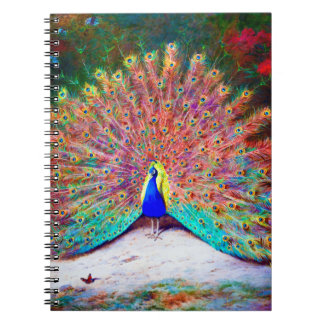 Vintage Peacock Painting Notebook