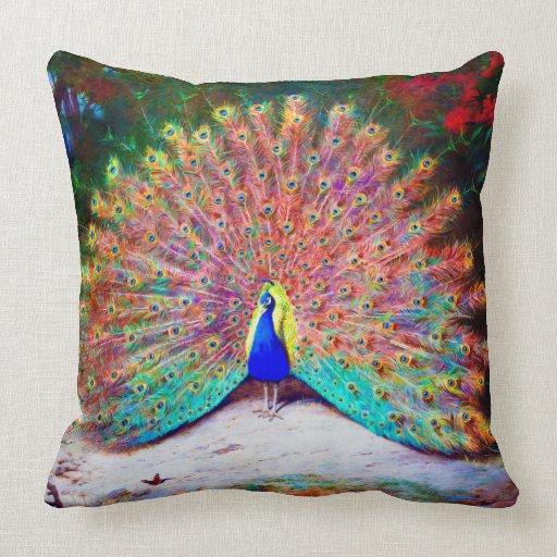 Peacock painting vintage