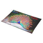 Vintage Peacock Painting Placemats