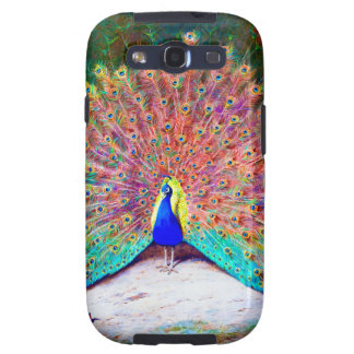 Vintage Peacock Painting Samsung Galaxy S3 Cases