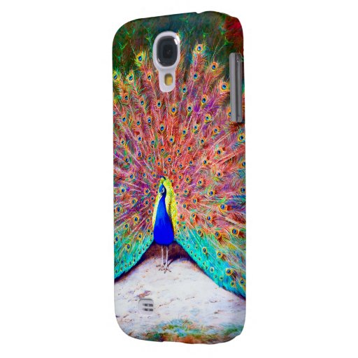 Vintage Peacock Painting Samsung Galaxy S4 Covers