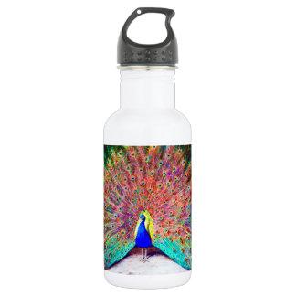 Vintage Peacock Painting Stainless Steel Water Bottle