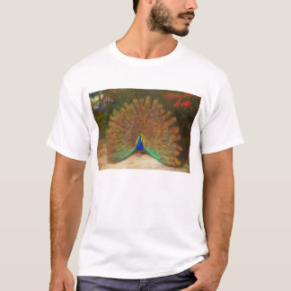 Vintage Peacock Painting T-shirt