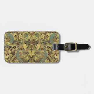 Vintage Peacock Pattern Travel Bag Tag