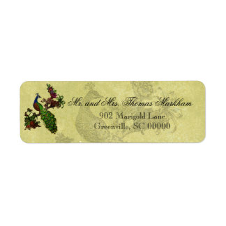 Vintage Peacock Personalized Address Labels