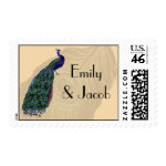Vintage Peacock Personalized Postage zazzle_stamp