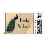 Vintage Peacock Personalized Postage