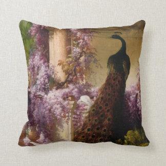 Vintage Peacock Throw Pillows