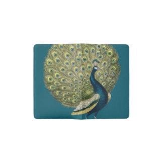 Vintage Peacock Pocket Moleskine Notebook