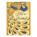 Vintage Peacock Poster Art Nouveau Custom Invitation