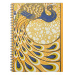 Vintage Peacock Poster Art Nouveau Journal