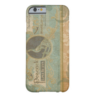 Vintage Peacock Retro Advertisement in Damask Barely There iPhone 6 Case