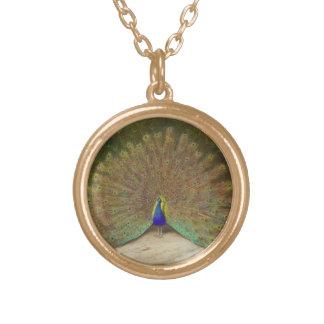 Vintage Peacock Round Pendant Necklace