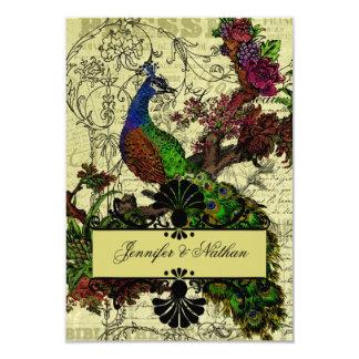 Vintage Peacock RSVP Card