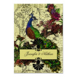 Vintage Peacock RSVP Card Personalized Announcements