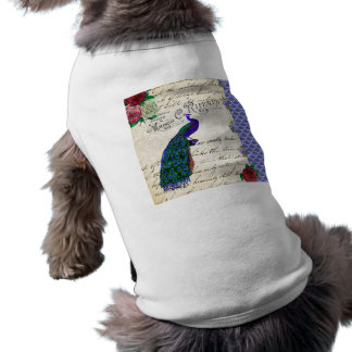 Vintage Peacock Song Collage Shirt
