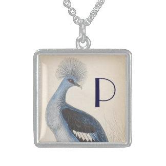 Vintage Peacock Square Pendant Necklace