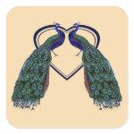 Vintage Peacock Stickers or Envelope Seals zazzle_sticker