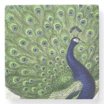 Vintage Peacock Stone Coaster